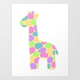 Gracie the giraffe Art Print