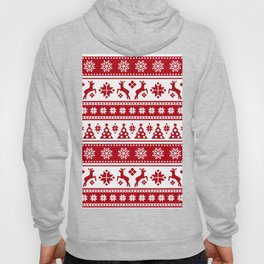 Christmas Holiday Nordic Pattern Cozy Hoody