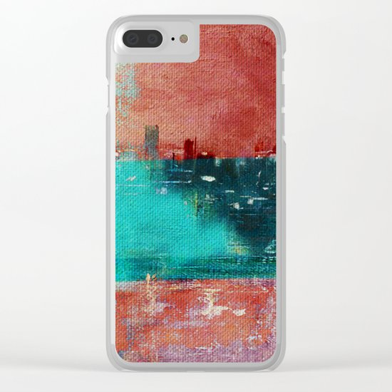 Autumn Town Clear iPhone Case