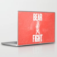 anchorman Laptop & iPad Skins featuring Bear Fight by John Choura Jr.
