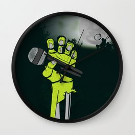 Mic of The Living Dead Wall Clock