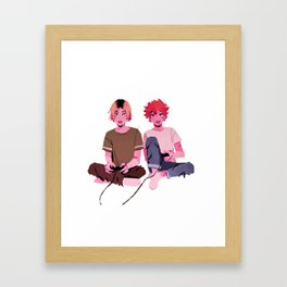 kenma & hinata - video games Framed Art Print