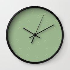 Mint Arrows Wall Clock