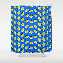 Blue Lemon Anomalous Illusion Shower Curtain