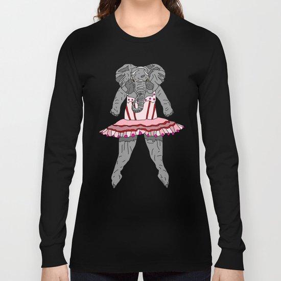 Elephant Ballerina Tutu Long Sleeve T-shirt