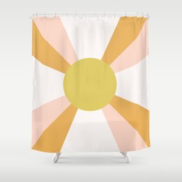 Retro Sun Rays - Morning Light Shower Curtain
