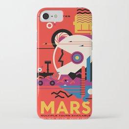 NASA Retro Space Travel Poster #9 Mars iPhone Case