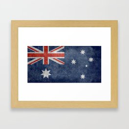 The National flag of Australia, Vintage version Framed Art Print