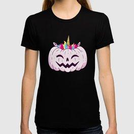 Cute Unicorn Pumpkin Halloween Thanksgiving - Funny Halloween Costume T-shirt