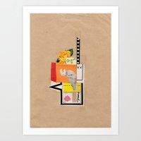 brasil Art Prints featuring Brasil by Fitacola