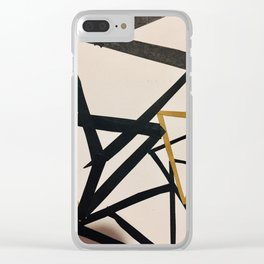 crazy shapes Clear iPhone Case