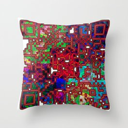 Serpent Heart Hid With A Flowering Face Throw Pillow