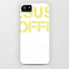 Jesus Coffee & Trump print For Christian Trump Supporters  graphic iPhone Case