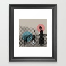 Blue wins Red stays in White is out Framed Art Print