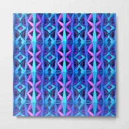 Blue/Purple Metallic Pattern Metal Print