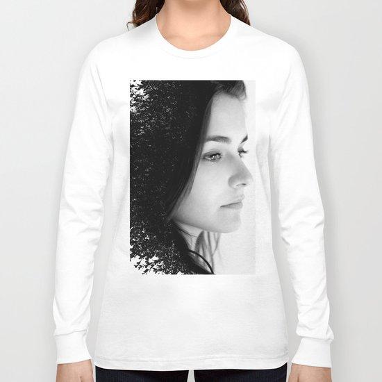 Double Exposure Portrait Long Sleeve T-shirt