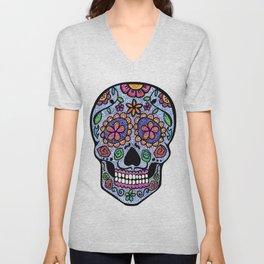 Crazy Skull  Unisex V-Neck
