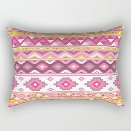 Modern Boho Aztec – Mulberry Pink and Plum Violet Rectangular Pillow