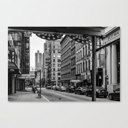 Early morning in TriBeCa of Lower Manhattan in New York City Canvas Print