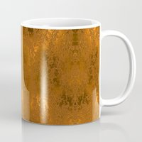 gold foil Mugs featuring Gold Foil 10 by Robin Curtiss