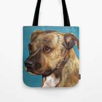 home alone Tote Bags featuring Home Alone(Original Sold!) by waggytailspetportraits