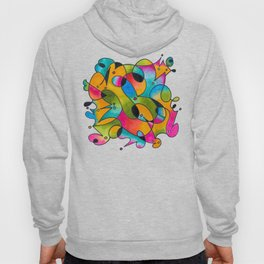 Abstract Gradient Critters Hoody