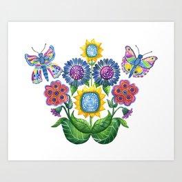 Butterfly Playground Art Print