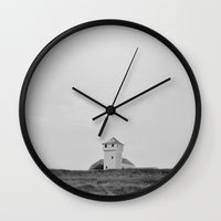 cape cod Wall Clocks featuring Cape Cod by Eugenie.A