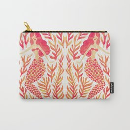 Kelp Forest Mermaid – Peach Palette Carry-All Pouch