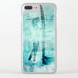 """abstract surfer #2"" Clear iPhone Case"