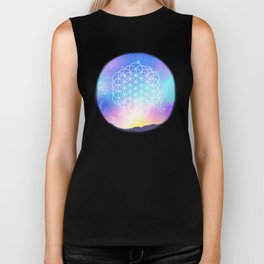 Sacred Geometry (Cosmic Flower) Biker Tank