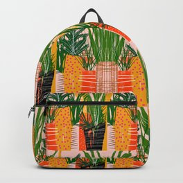 Plants on Pink Backpack