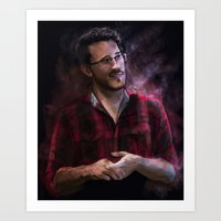 markiplier Art Prints featuring Markiplier at Pax by JazzySatinDoll