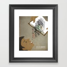 EX LIBRIS Framed Art Print