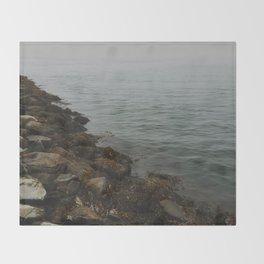 Foggy Ocean Throw Blanket