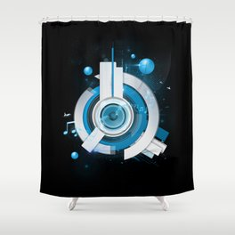 Music Beacon Shower Curtain
