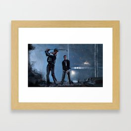 Tyler Durden and the Narrator - Golfing Buddies - Fight Framed Art Print