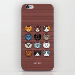 I love cats iPhone Skin