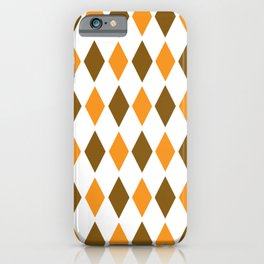 Diamond orange brown pattern iPhone Case