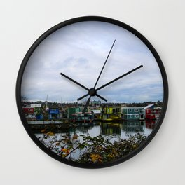 town on the sea Wall Clock