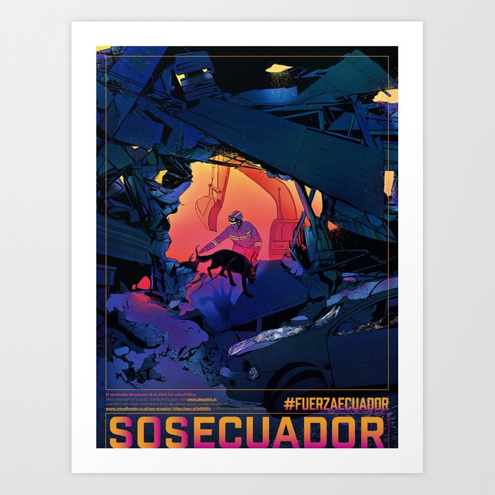 #SOSECUADOR Poster Art Print