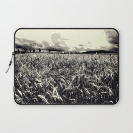 Black and white field Laptop Sleeve