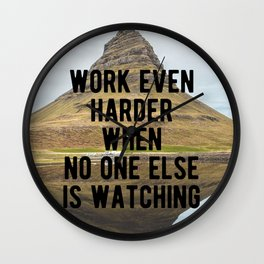 Motivational - Work Harder In Private Wall Clock