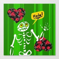 Hello Skeleton Canvas Print