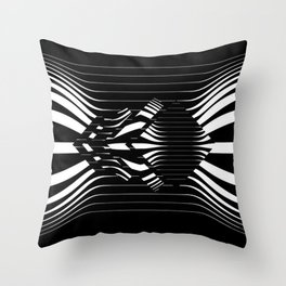 Catch Me in B&W Throw Pillow