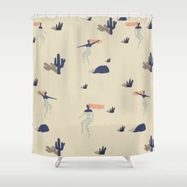 Dezert swim Shower Curtain