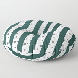 Stripes and dots (Green) Floor Pillow