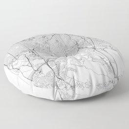 San Francisco White Map Floor Pillow