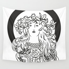 Mucha's Inspiration Wall Tapestry