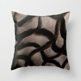 Bleed Black Throw Pillow